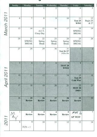 AP Schedule 2011